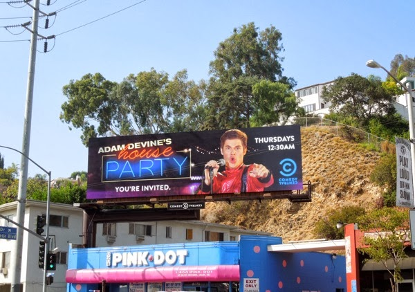 Adam Devine's House Party billboard