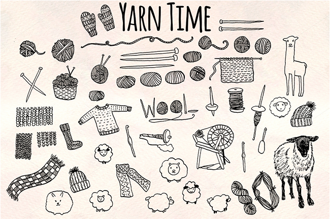 Yarn Time! 50+ Yarn Craft Graphics! - Violet LeBeaux