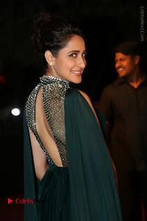 Actress Pragya Jaiswal Stills in Green Long Dress at Gemini TV Puraskaralu 2016 Event  0063.JPG