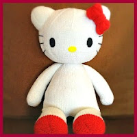 Hello Kitty grande de punto