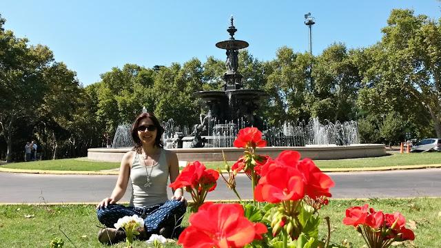 Fonte de los Continentes, no Parque General San Martín.
