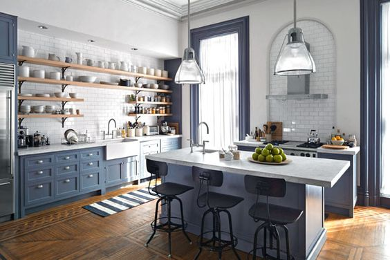 Interior Farm Style Kitchens farmhouse style 30 blue and white kitchens to inspire hello lovely inspire
