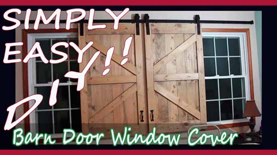 Simply Easy Diy Diy Barn Door Headboard And Window Covers