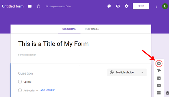How to add a Question to your Google Form