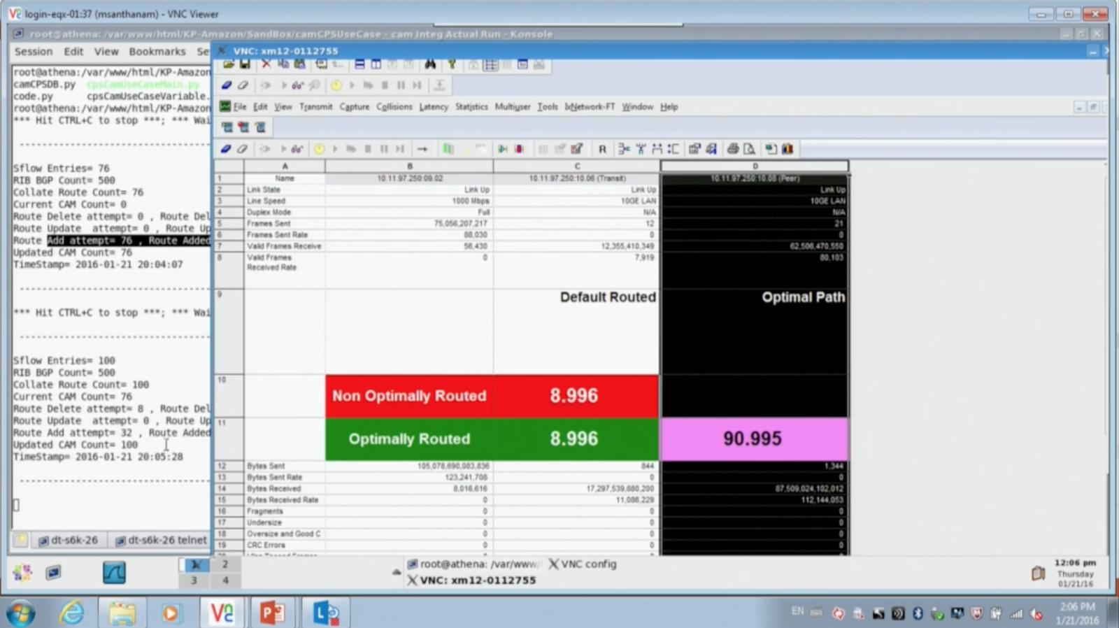 sFlow: Dell OS10 SDN router demo