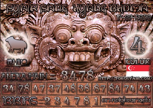 Kode syair Singapore Kamis 17 September 2020 164