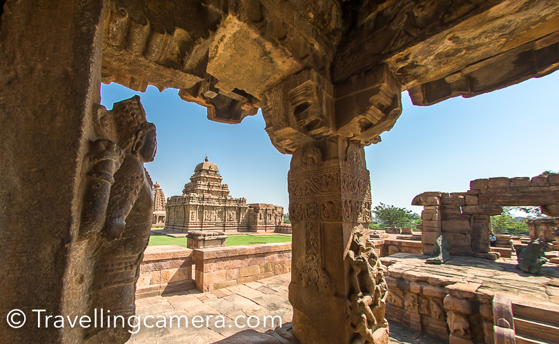 These beautiful pillars around the temples helped me frame some of these views a little better. It was sunny out there and balancing light was little tricky.