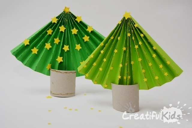 MINI CHRISTMAS TREE CRAFT for Kids - Accordion | My Indian Version