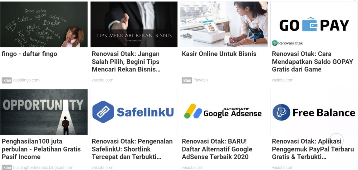 Tips Mendapatkan Matched Content AdSense