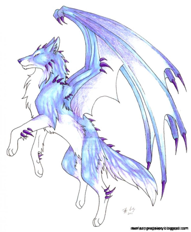 anime ice wolf with wings amazing wallpapers