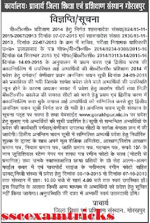 Gorakhpur Admission for BTC 2014