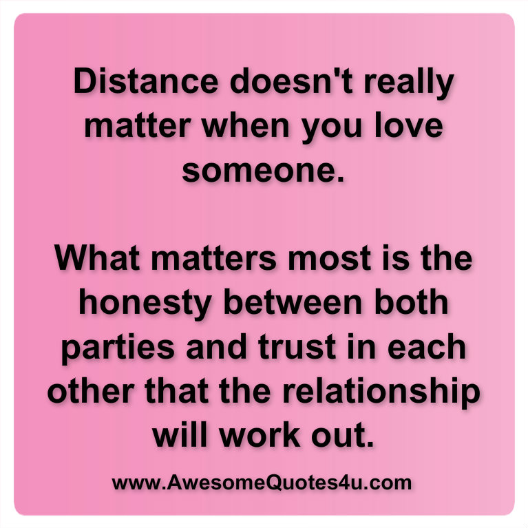time and distance doesnt matter in a relationship