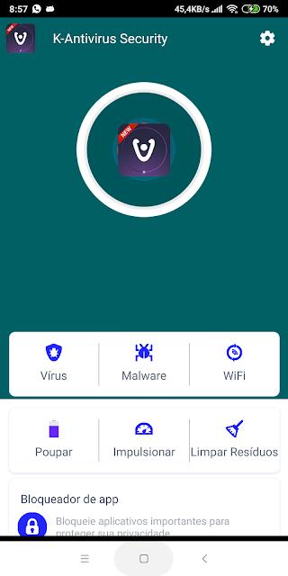 imagens do aplicativo k anti vírus para android