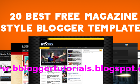 Top 20 Best Free Blogger Templates