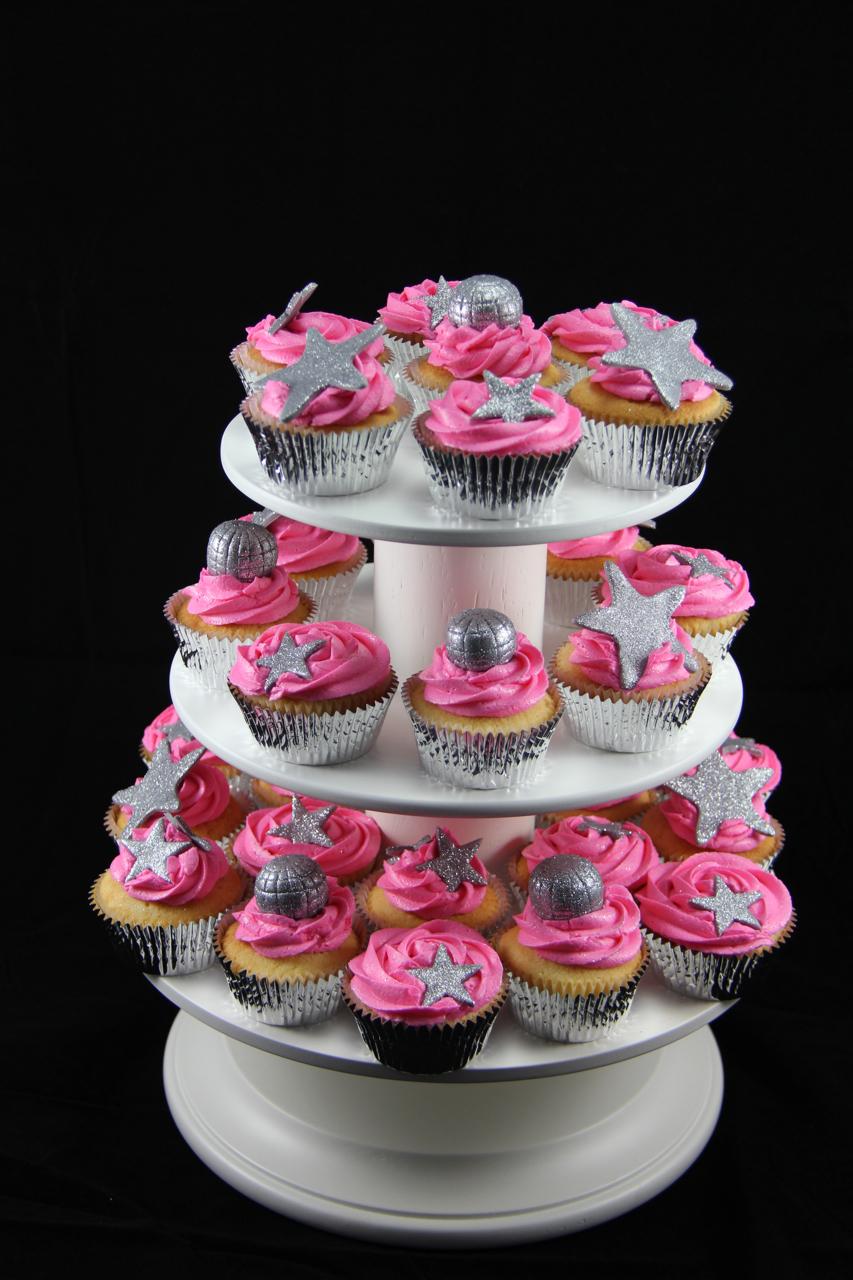 Coco Jo Cake Design Hot Pink Disco Cupcakes