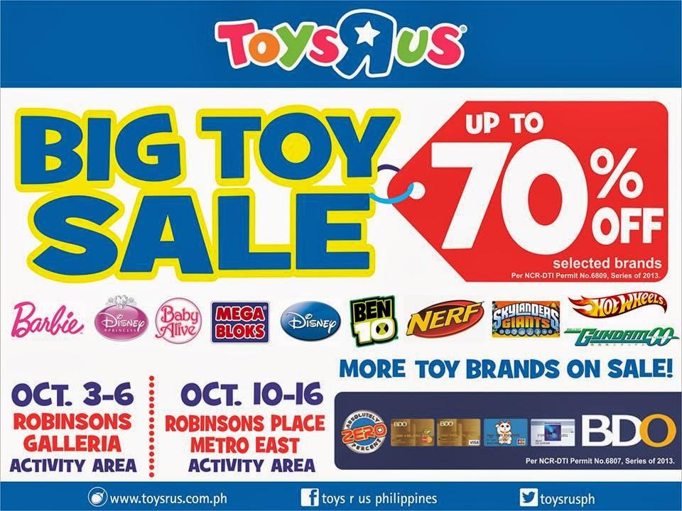 Manila Shopper Toys R Us Big Toy Sale Oct 2013