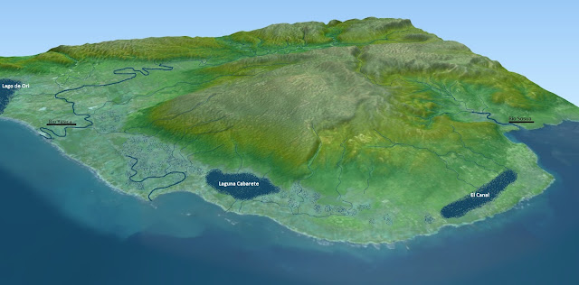 sosua cabarete 3d digital elevation model