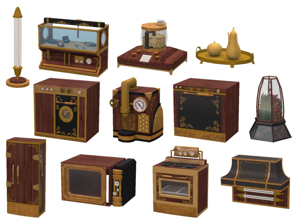 My sims 4 blog ts3 steampunk kitchen and hacienda luxury for Steampunk kitchen accessories