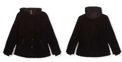 abrigo negro para niña