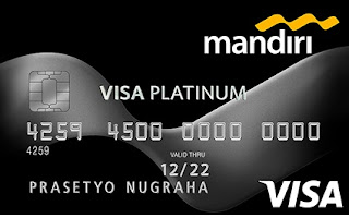 Design Kartu kredit mandiri Visa platinum
