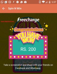 freecharge credits