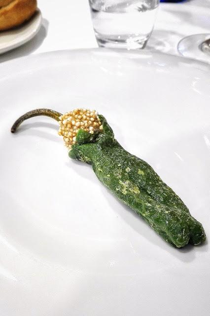 Pimiento verde del cristal y su 'curujón'.
