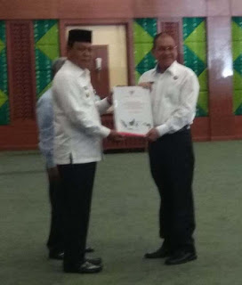 Bupati Kotabaru Terima DIPA Dari Gubernur Kalsel