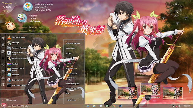 Theme Windows 8.1 and 10 Rakudai Kishi no Cavalry By Bashkara