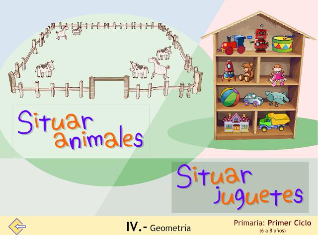 Situar (animales y juguetes)