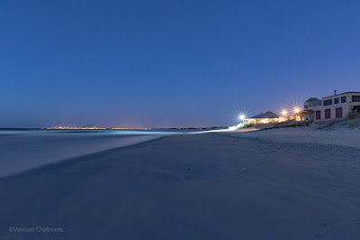 Copyright Vernon Chalmers: After Sunset : Milnerton Beach towards Table View