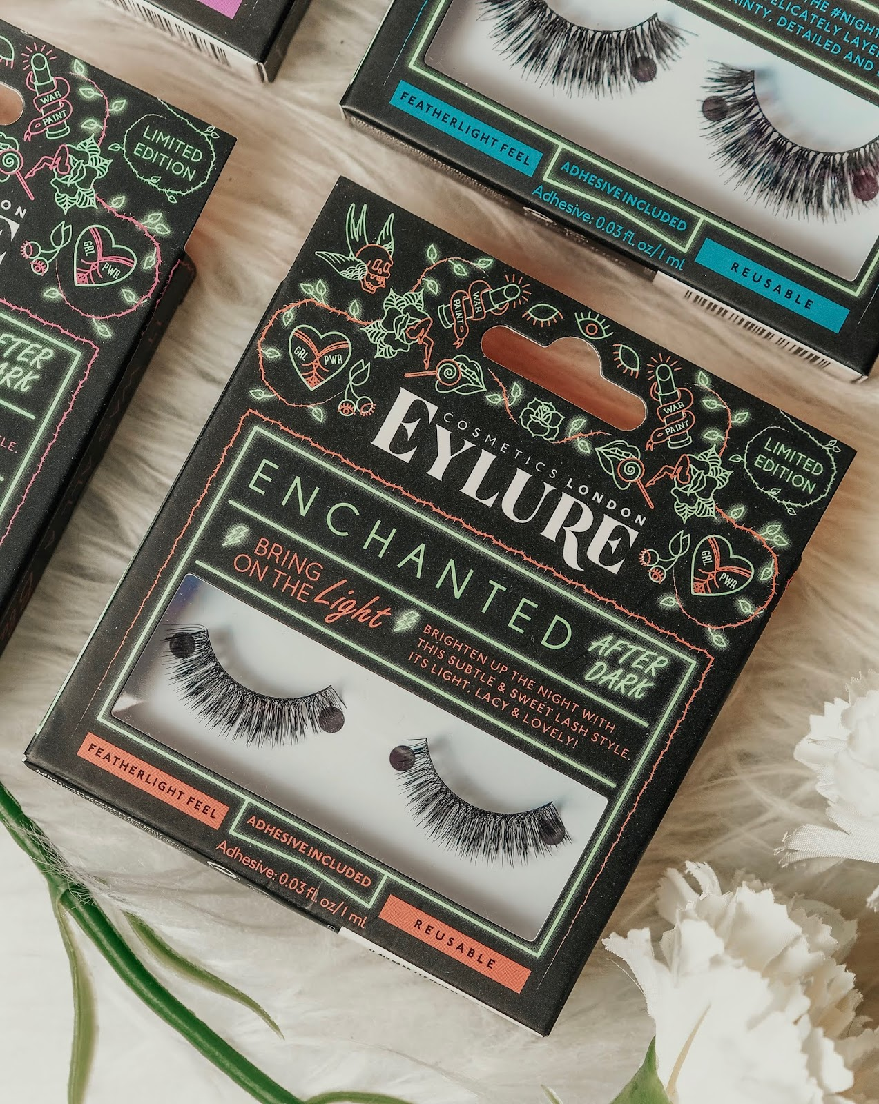 5a4e90d8e12 Moving onto some more dramatic pairs, you have the 'Night Times' lashes.  These would be so perfect for a big night out to add to your glam makeup  look!