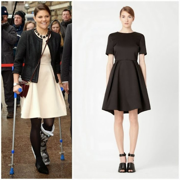 Swedish Crown Princess Victoria wore Cos Black Dress. Cos Brand