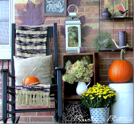 Rocking chair for Fall on the front porch