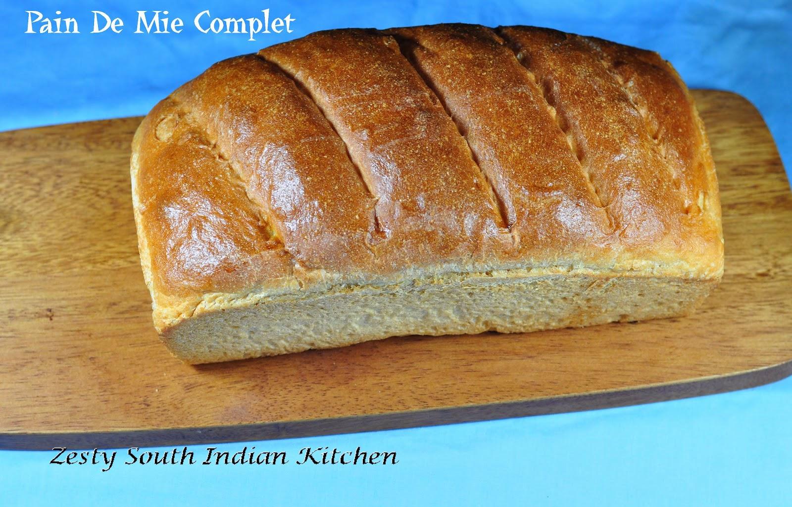Pain De Mie Complet: A White Whole Wheat Sandwich Bread ...  Pain De Mie Com...