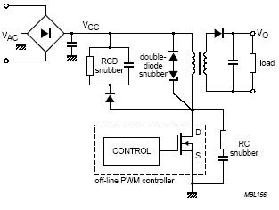 Mosfet Snubber Flyback Converter Circuit