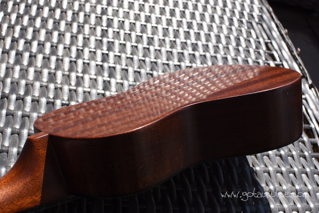 Hamano ukulele polished back
