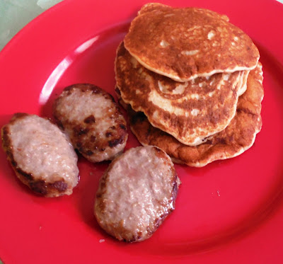 Kodiak Cakes pancakes with sausage