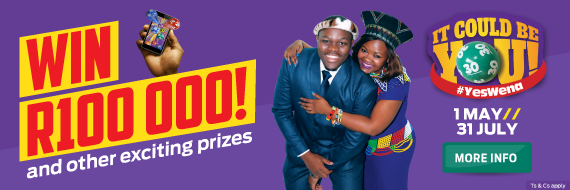 #YesWena - Win R100 000 with Hollywoodbets and Lucky Numbers!