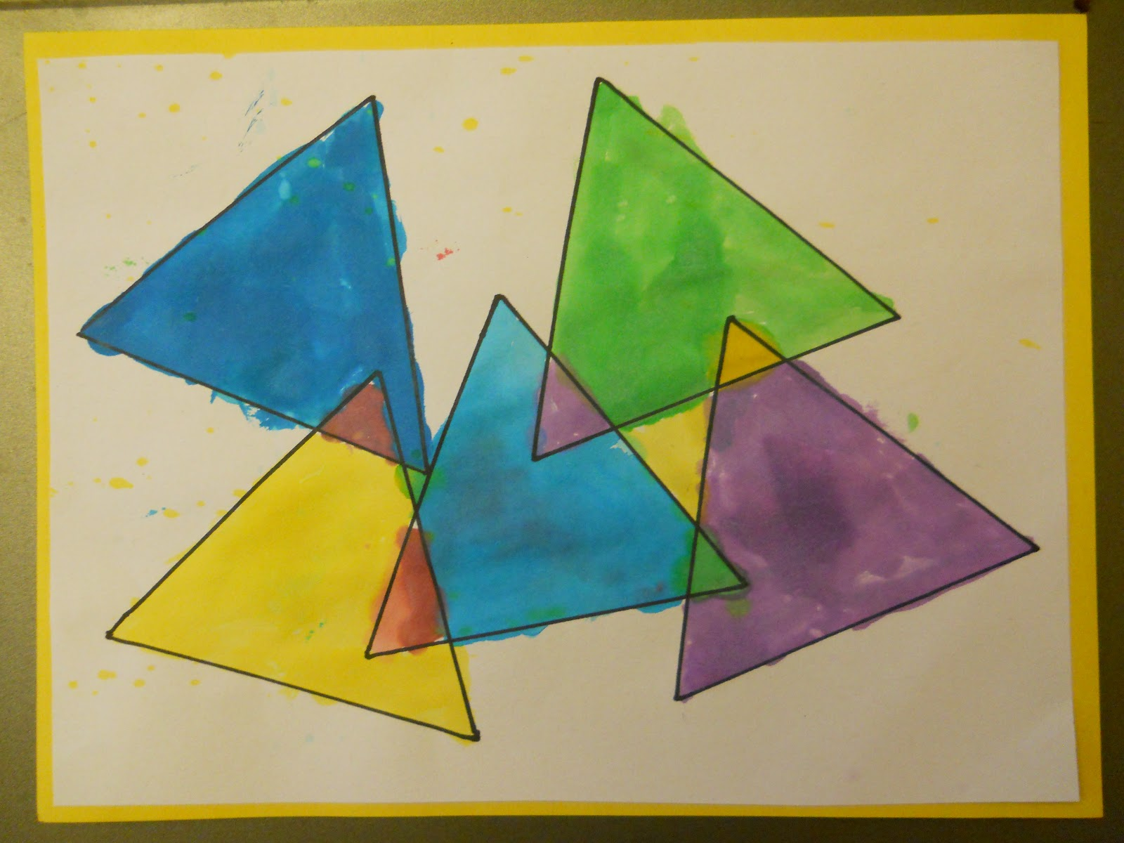 Mrs T S First Grade Class Triangles Within Triangles