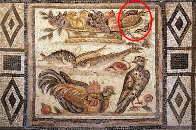 Il mosaico esposto al Museo delle Terme di Roma
