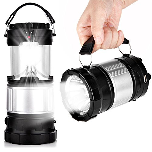 Lampe solaire LED rechargeable à batterie