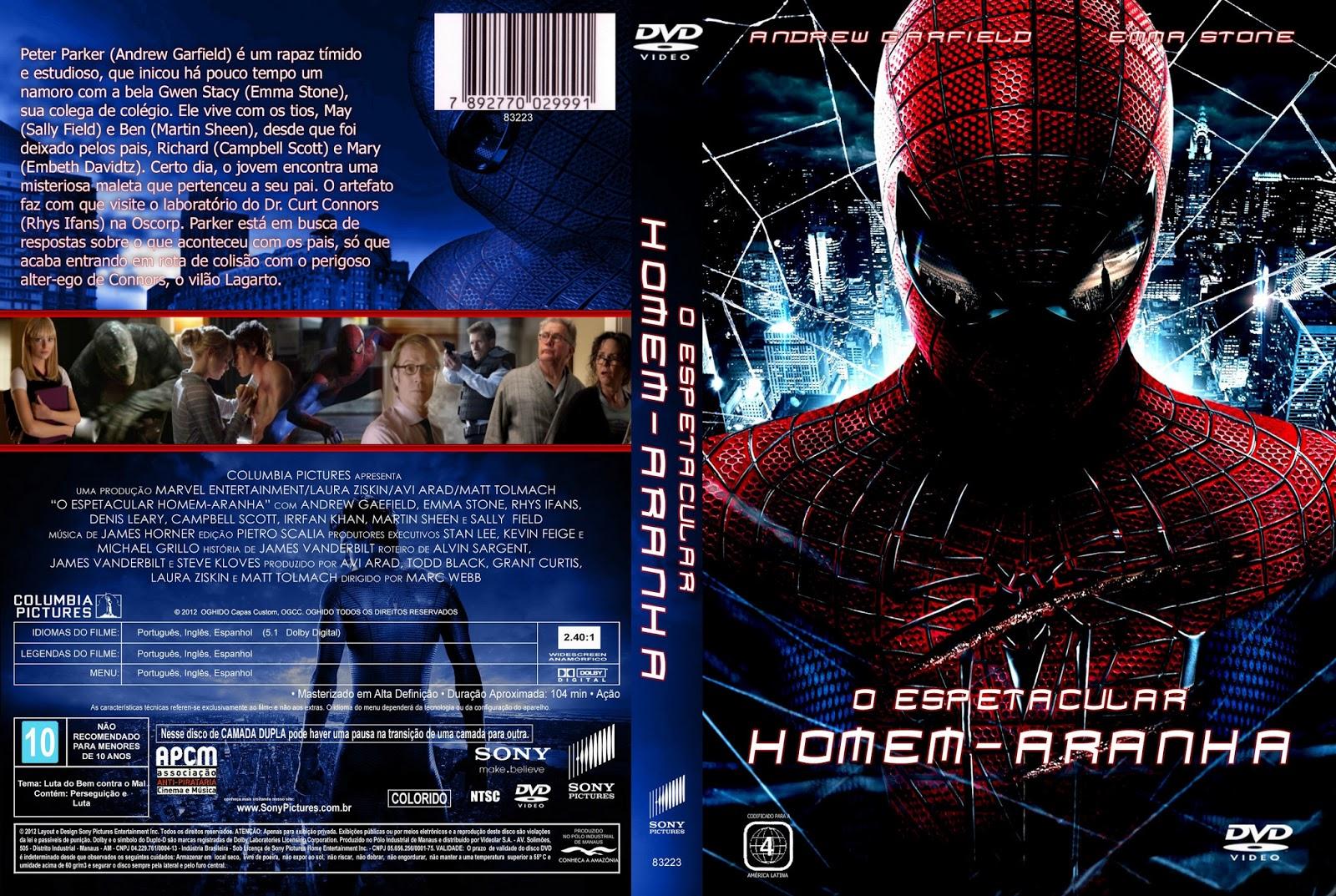 O Espetacular Homem-Aranha DVD Capa