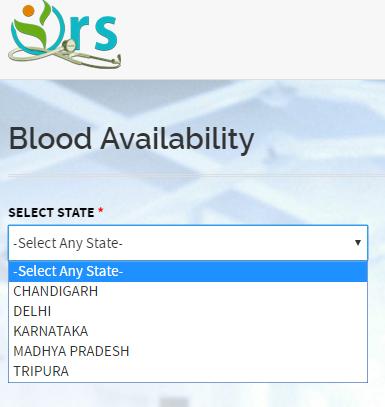 Online Registration System steps to Check Blood Bank