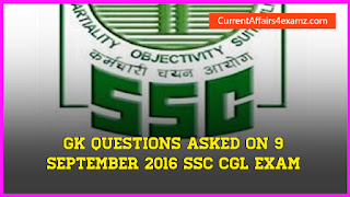 SSC Exam 9 September 2016