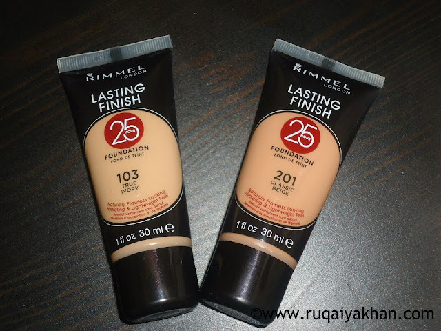 Rimmel Lasting Finish 25 Hour Foundation in Classic Beige and True Ivory