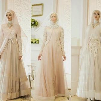 Model Kebaya Gamis Akad Nikah Wanita Berjilbab