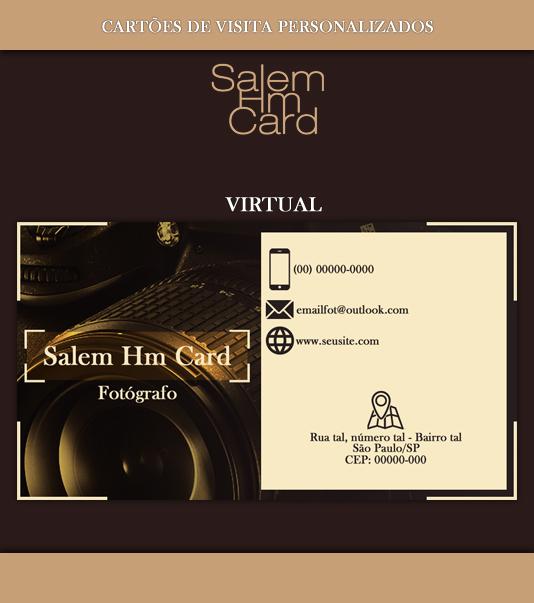 Cartão de Visita - Modelo 2 - Fotografia - Virtual