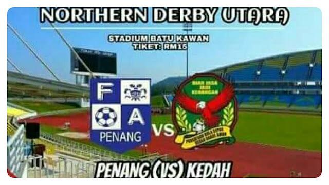 Live Streaming Pulau Pinang vs Kedah 22.7.2017 Liga Super