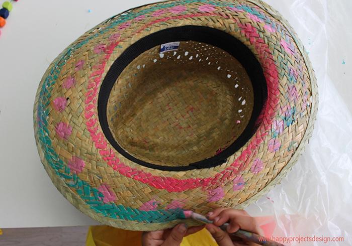 pintar Sombrero de paja