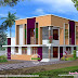 1720 square feet complete flat roof home design